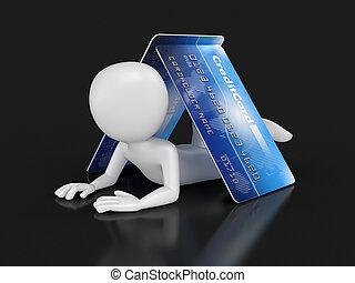 卡片, 信用, 人