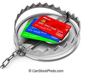 卡片, 信用, 俘獲