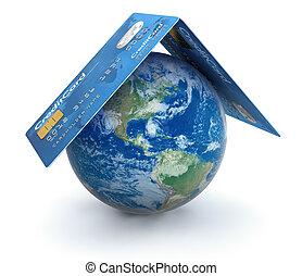 卡片, 信用, 全球