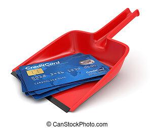 卡片, 信用, 畚箕