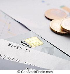 卡片, 信用, 硬币