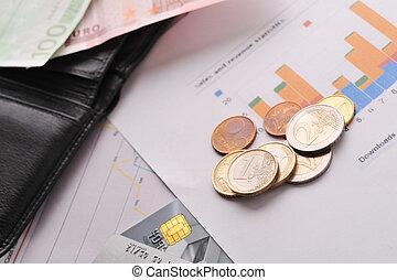 卡片, 信用, 钱包