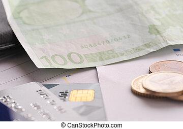 卡片, 信用, 钱