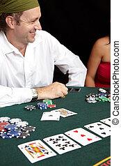 卡片, 賭博