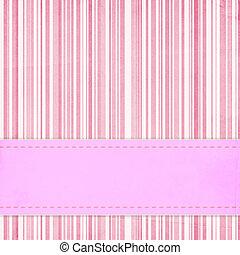 卡片, 邀請, 樣板, 為, 嬰兒送禮會, 婚禮, 或者, 生日, 由于, 粉紅色, 條紋