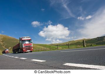 卡車, 二, 路, 山