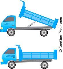 卡車, 堆放處