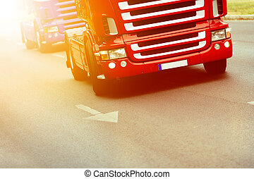 卡車, 如, 意味著, ......的, 運輸