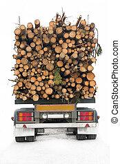 卡車, 木材