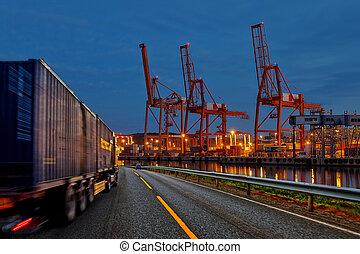 卡車, 港口