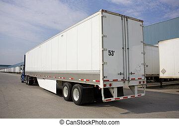 卡車, 由于, 環境, 輕拍