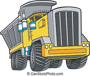 卡車, 矢量, 藝術, 堆放處, 插圖