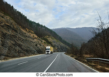 卡車, 運輸, 路