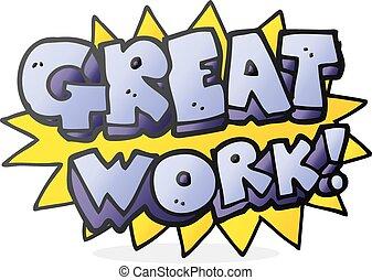 卡通, 工作, 符號, 偉大
