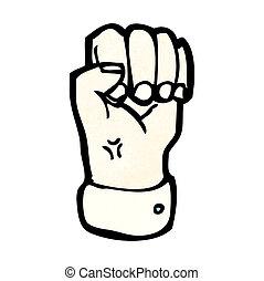 卡通, 握緊拳頭