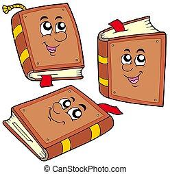 卡通, 書, 在, 各種各樣, 位置