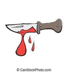 卡通, 流血, 廚房刀