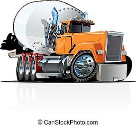卡通, 混和器, 卡車