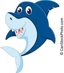 卡通, 鯊魚, 憤怒