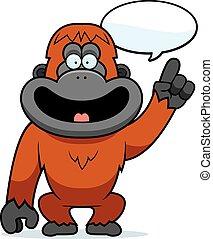 卡通, orangutan, 談話