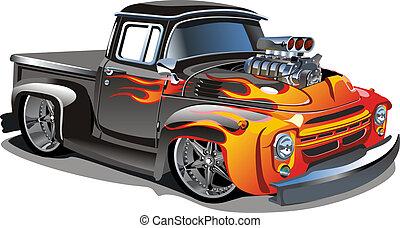 卡通, retro, 馬力強大的 汽車