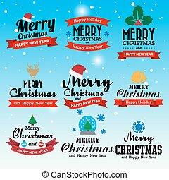 印刷である, 幸せ, 陽気, 新しい, 背景, クリスマス, 年