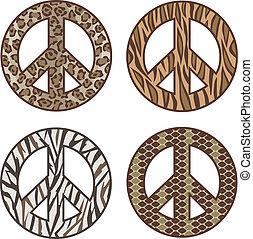 印刷, シンボル, 平和, 動物