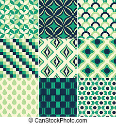 印刷, パターン, seamless, レトロ