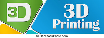 印刷, 円形にされる, 正方形, カラフルである, 3d
