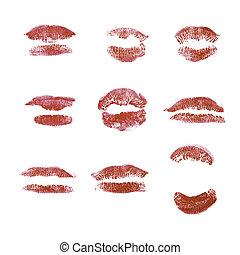 印刷, 唇, コレクション