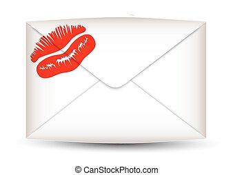 印刷, 封筒, 唇