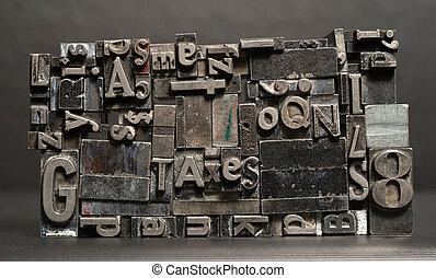 印刷, 手紙, テキスト, 金属, typeset, 出版物, タイプ, 活版印刷, 税