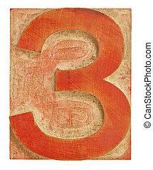 印刷, 数, ブロック, 3