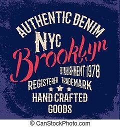 印刷, 都市, brooklyn, design.