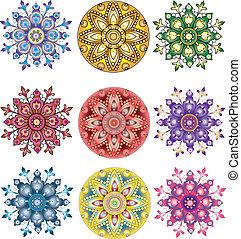 印度, ornament., 佩斯利螺旋花紋呢, seamless