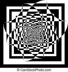 印象, 飛行, 背景, tridimensional, pseudo, アラベスク, 透明
