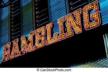 印, ギャンブル, vegas, ネオン, las