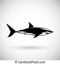 印, サメ, グレイト・ホワイト, ロゴ