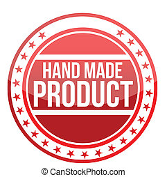 印, シンボル, 作られた, オリジナル, 手