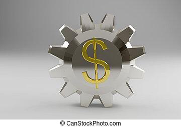 印, ドル, ギヤ, 金, 銀のようである