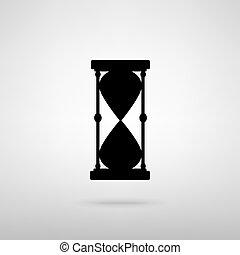 印。, ベクトル, イラスト, 砂時計