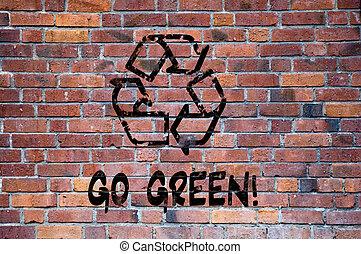 印, リサイクルしなさい, 行きなさい, 緑, grafitti