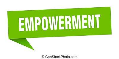 印。, リボン, empowerment, bubble., 旗, スピーチ