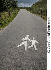 印, 交通, 歩行者