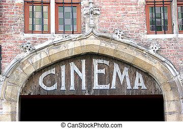 印, 古い, 映画館