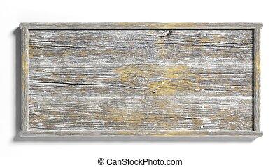 印, 古い, 背景, 木製である, 隔離された, 白