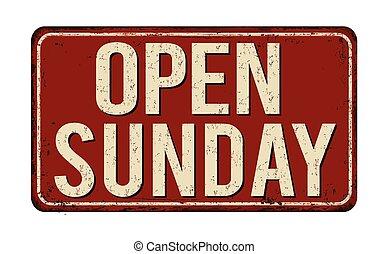 印, 型, 錆ついた, 開いた, 日曜日, 金属