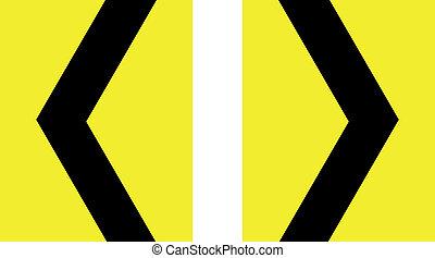 印, 山形そで章, カーブ, シャープ, 黄色