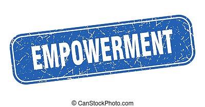 印, 広場, 青, grungy, stamp., empowerment