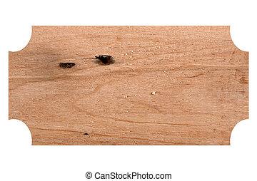 印, 木製である, 隔離された